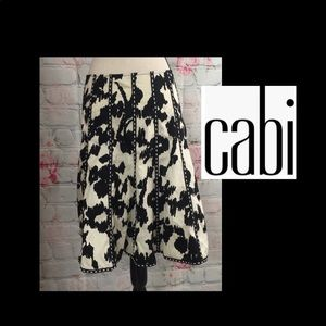 "NWT! Cabi ""So Pretty"" A Line Black & Ivory Skirt 6"